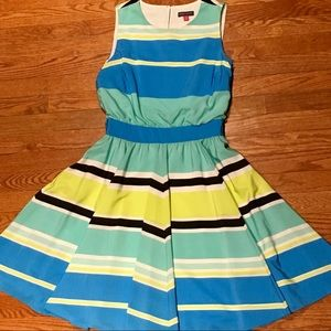 VINCE CAMUTO Pastel Stripe Dress